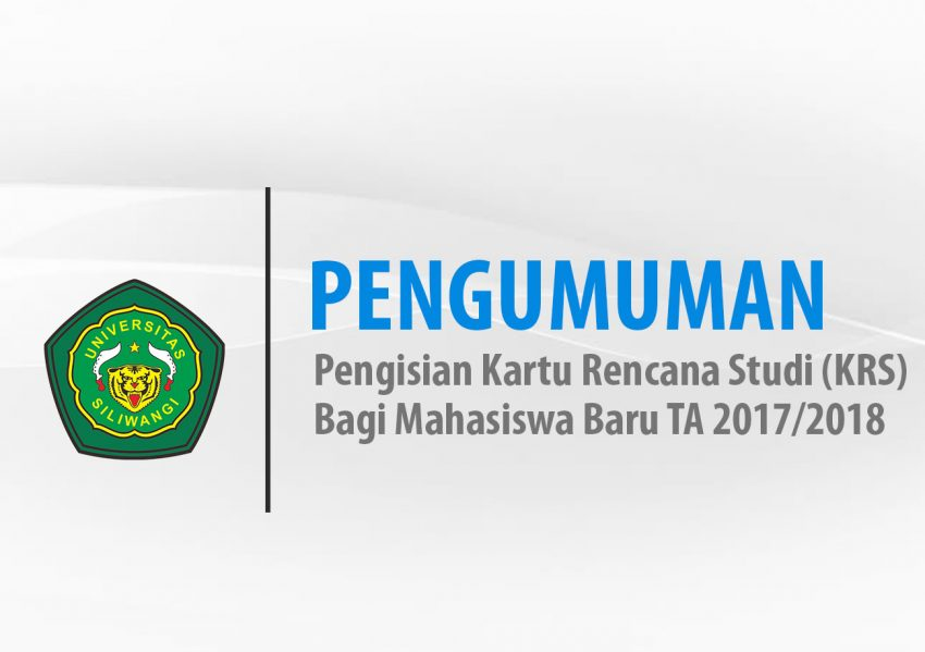 Pengisian KRS Mahasiswa Baru TA 2017-2018